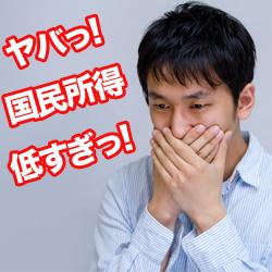 国民所得 減少  日本